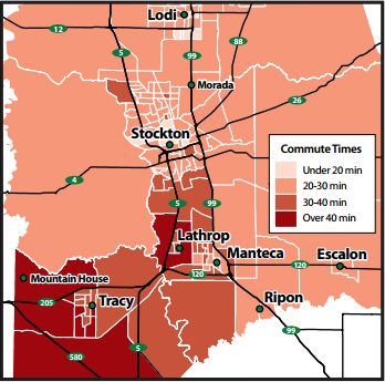 Commute Times San Joaquin County