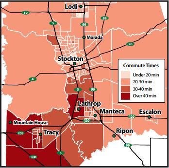 Commute Times San Joaquin County