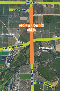 Image of Map of McHenry Construction Area