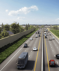 Image of cars driving on a freeway